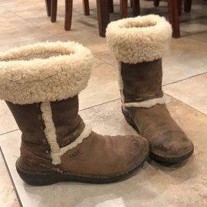 UGG Australia Fur Boots, size 9.